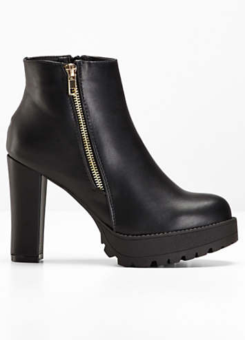 black zip ankle boots by rainbow bonprix. Black Bedroom Furniture Sets. Home Design Ideas